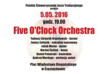 """Five O'Clock Orchestra w ramach projektu """"Aleje tu się dzieje"""""""