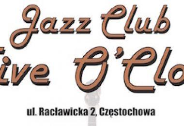 """Jazz Klub """"Five O'Clock"""" zmienia siedzibę!"""