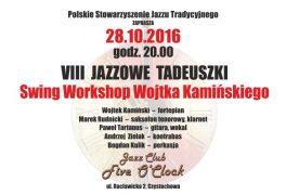 """Jazzowe Tadeuszki po raz ósmy! 28 października o godz. 20:00 w Klubie """"Five O'Clock"""""""
