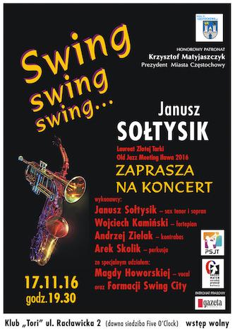 Koncert Janusza Sołtysika laureata tegorocznej Złotej Tarki – 17 listopada 2016 o godz. 19.30