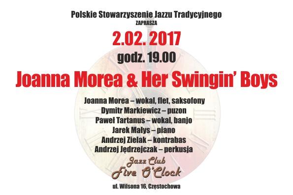 """""""Joanna Morea & Her Swinging Boys"""" w Jazz Klubie """"Five O'Clock"""" – 02.02.2017 r."""